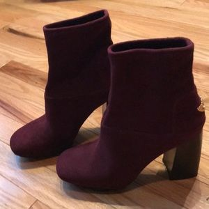 Tory Burch Sidney Suede stretch ankle bootie